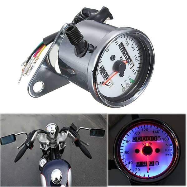 Motorcycle LED Backlight Dual Odometer Speedometer Gauge /& Signal Light Chopper