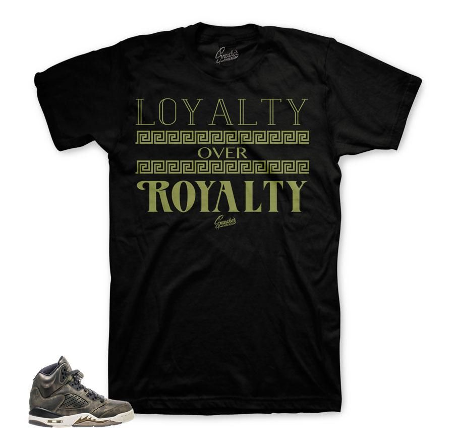 Cardi B Loyalty Over Royalty Bicep Tattoo: Jordan 5 Heiress Shirt