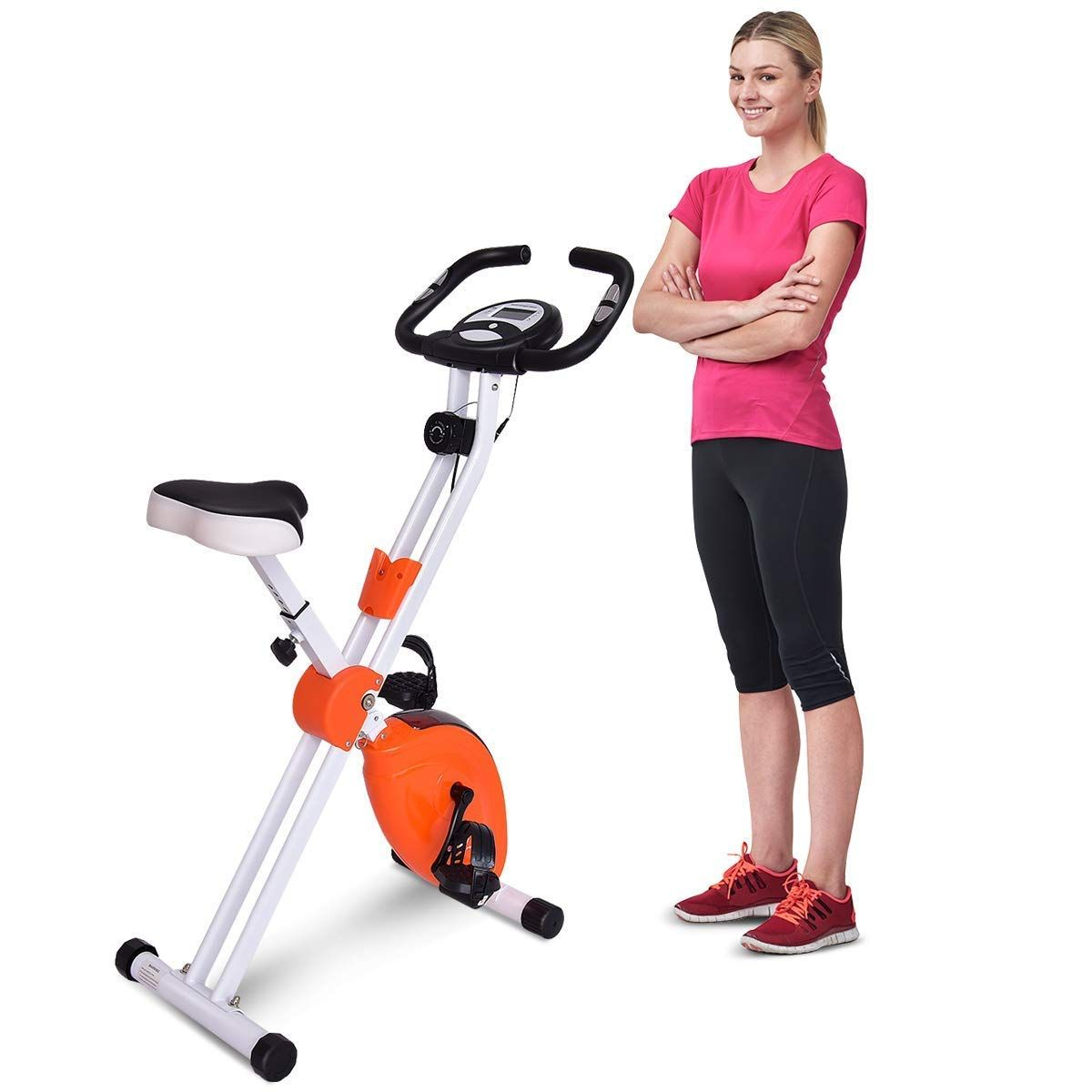 Goplus Upright Exercise Bike Stationary Bicycle 8 Resistance