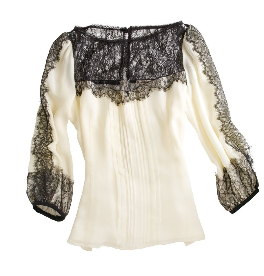 Nanette Lapore Silk and Lace Blouse