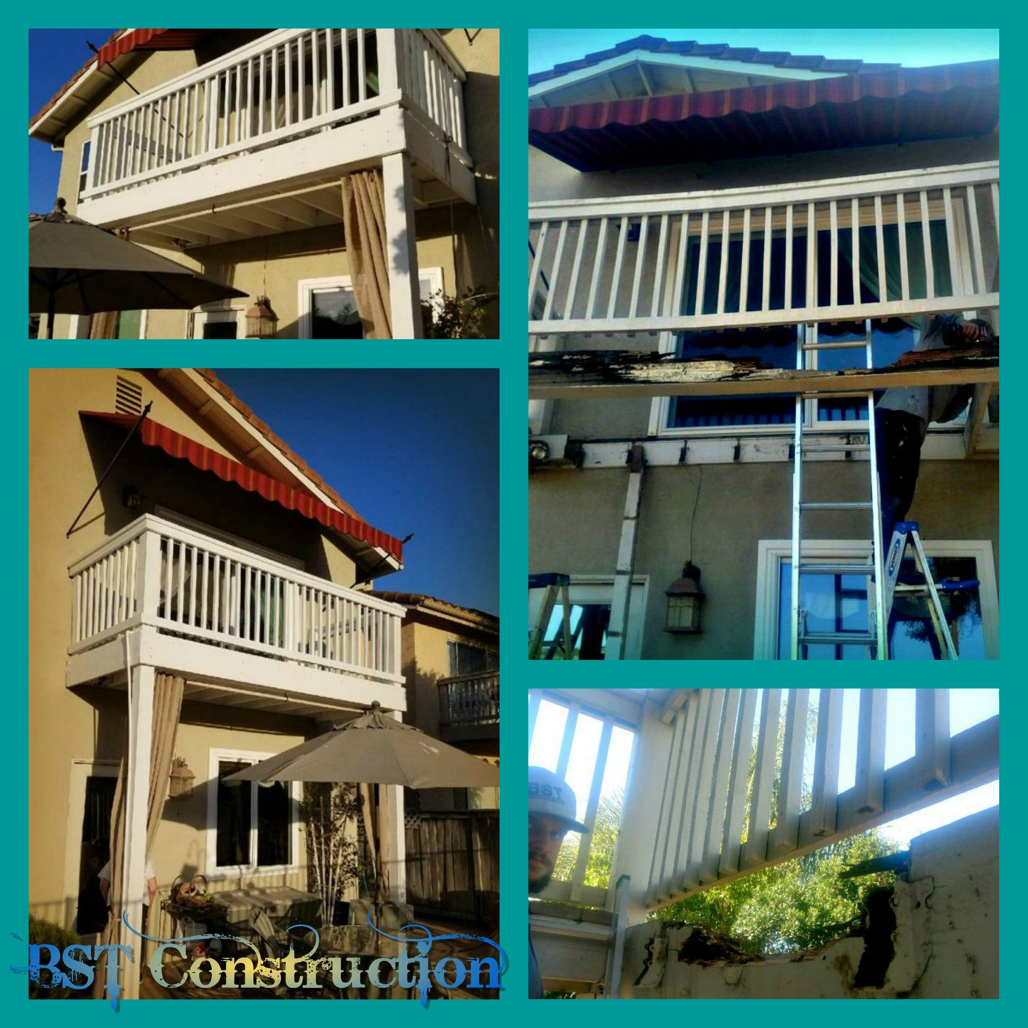 Balcony Rebuild To Replace Wood Rotted Beams And Floor Planking
