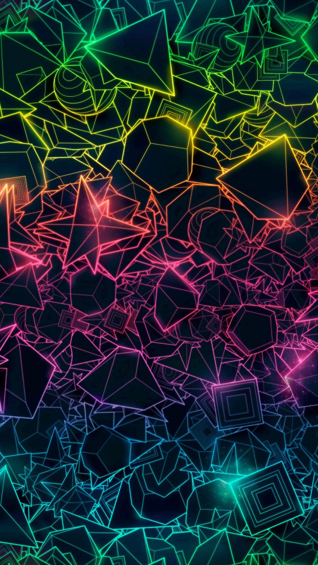 Colorful Geometric Trippy Iphone Wallpaper In 2019