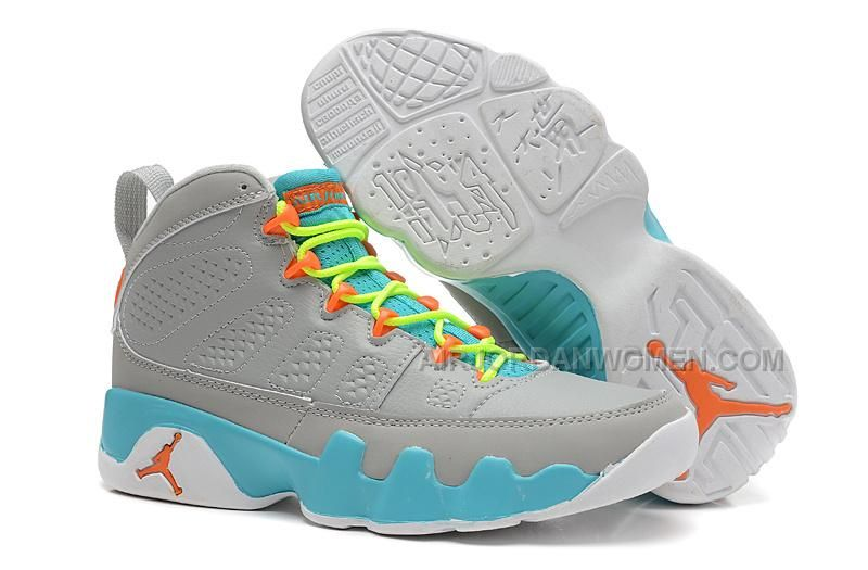 3016c2d0e6a How To Buy Authentic Youth Big Boys Air Jordan Air Jordan 9 Big Boys Shoe  Retro South Beach Photo Blue Wolf Grey Fluorescent Green 302370 013 On Sale