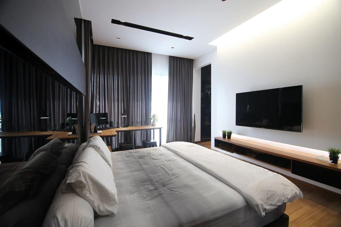 Asian minimalist bedroom