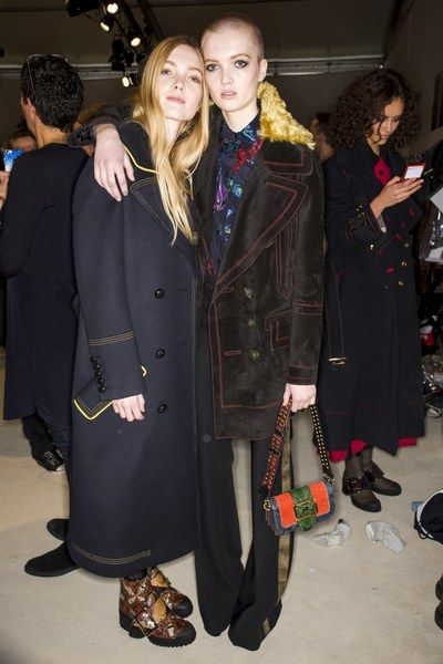 See behind-the-scenes photos from the Burberry Fall 2016 show at London Fashion Week.