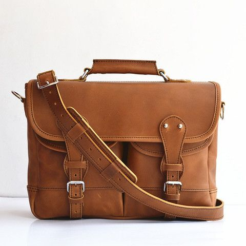 Handmade Men s Leather Briefcase Leather Angler Bag Fisher Man Bag Leather  Messenger Bag Leather Satchel Leather MacBook Bag For Men Women bf1cb09c68afd