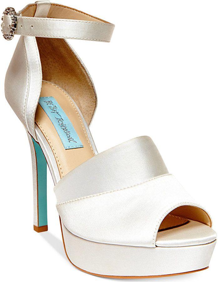 Blue By Betsey Johnson Silk Platform Evening Sandals