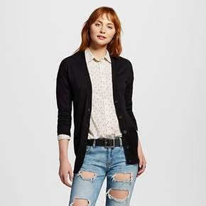 Women's Boyfriend Cardigan Sweater Yellow L - Mossimo Supply Co ...