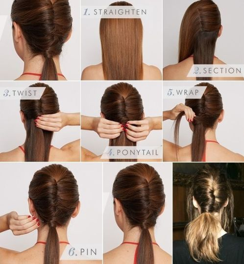 6 Easy Office Hairstyles For Long Hair Ponytail Hairstyles Easy Hair Styles Ponytail Hairstyles Tutorial