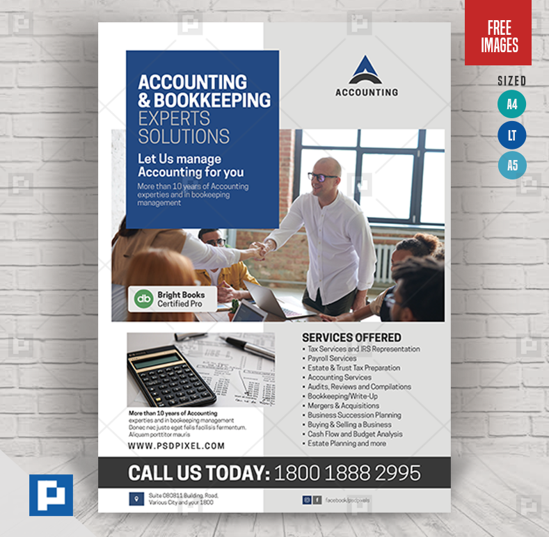 Accounting Experts Services Flyer Psdpixel In 2020 Accounting Bookkeeping Services Flyer