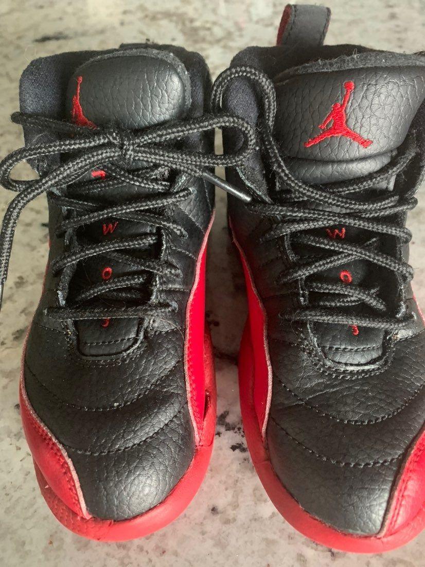 Black and red air Jordan's boys sneakers 23   Air jordans ...
