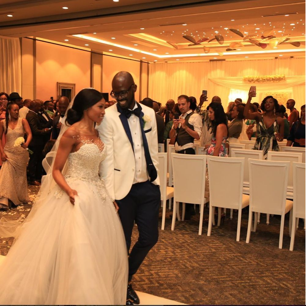 World Famous South African House Dj Black Coffee Actress Enhle Mbali Mlotshwa Have Their White Wedding After 7 Years Traditionally Married With 2 Kids
