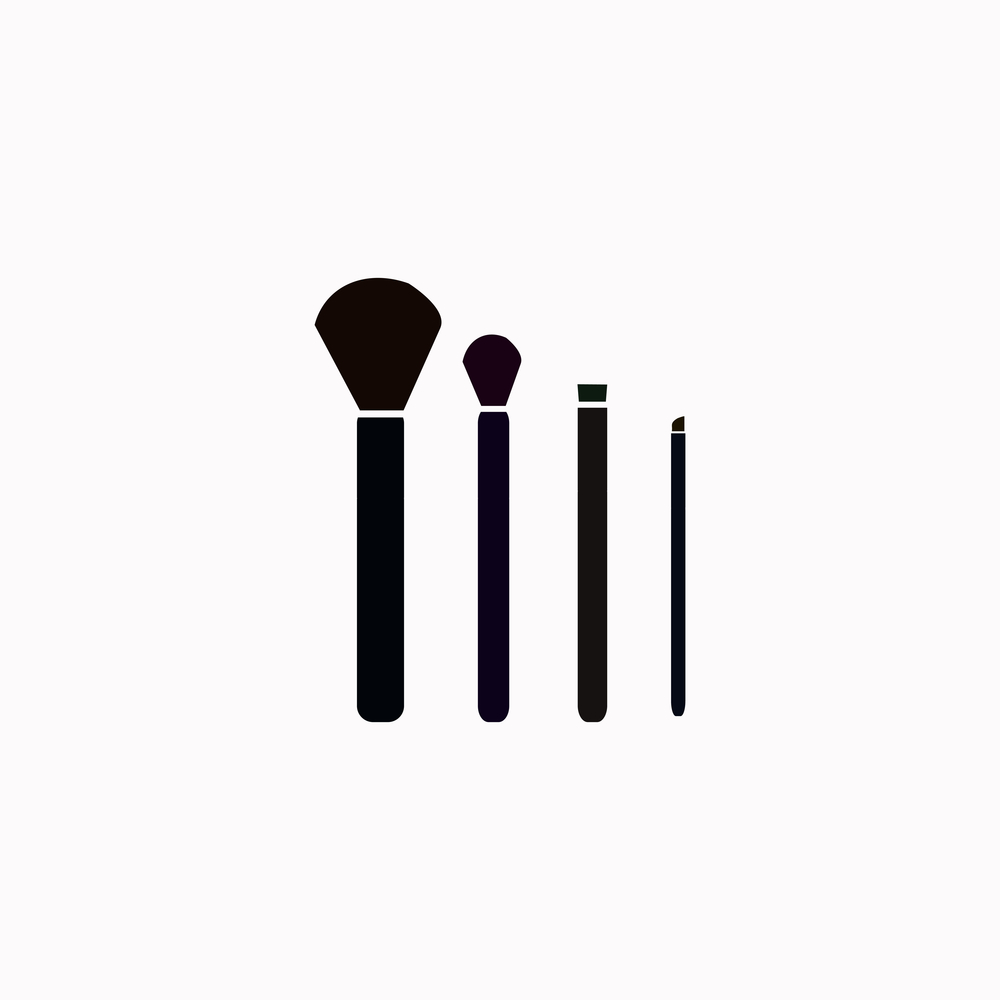 Makeup Brushes Icon Vector Design Makeup Brushes Makeup Icon Design