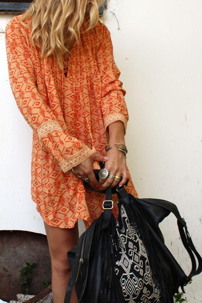 want Lily Long Sleeve Orange Sahara - Arnhem Clothing