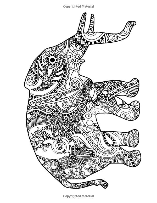 Amazon com intricate zen animals coloring book for adults stress free art