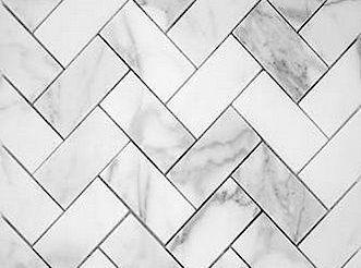 Herringbone subway tile
