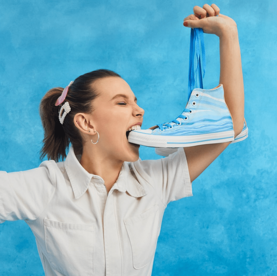 Converse éco responsable, la collab' Millie Bobby Brown x