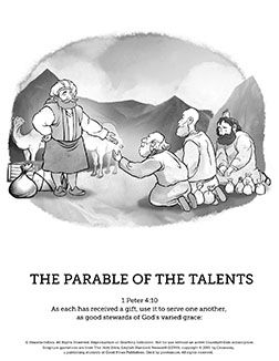 The Parable Of Talents Sunday School Coloring Pages Imagery Has Been Beautifully Brought To Life With This