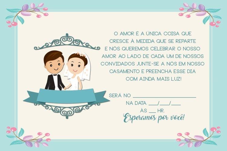 Convite De Casamento Aquarela Download Gratis Com Imagens