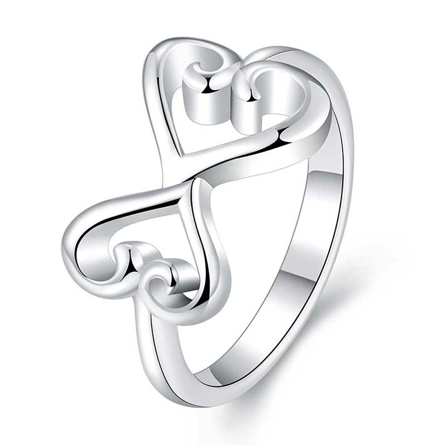 Happy Gogou 925 Silver Plated Amazing Jewelry Infinity Symbol Rings