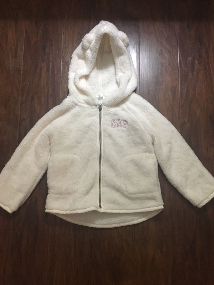 60a2b96e34af Baby Gap Girls baby Bear Hooded Sweater size 3 Years Toodler ...