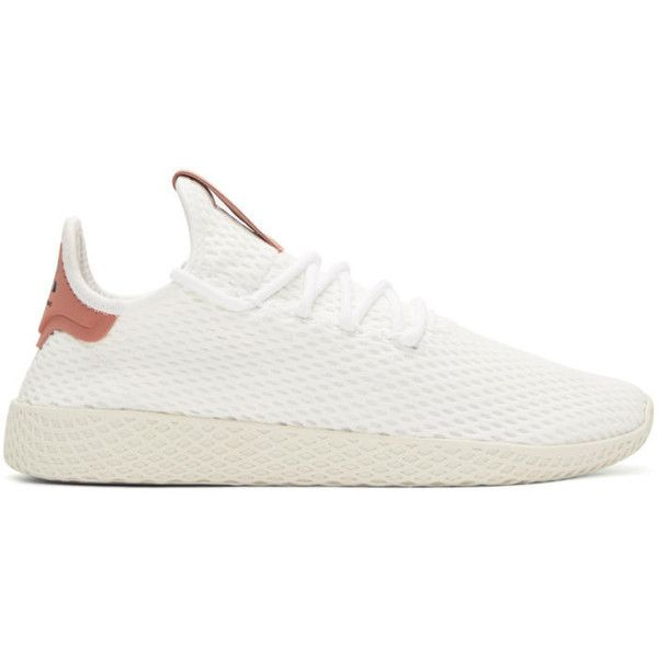 best service 69c0b 5b933 adidas Originals x Pharrell Williams White and Pink Tennis Hu Sneakers  ( 115) ❤ liked