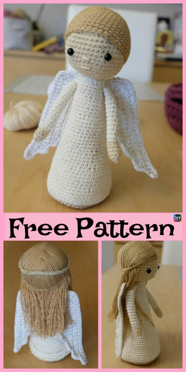 Easy Crochet Angel Amigurumi Free Pattern | 1300x650
