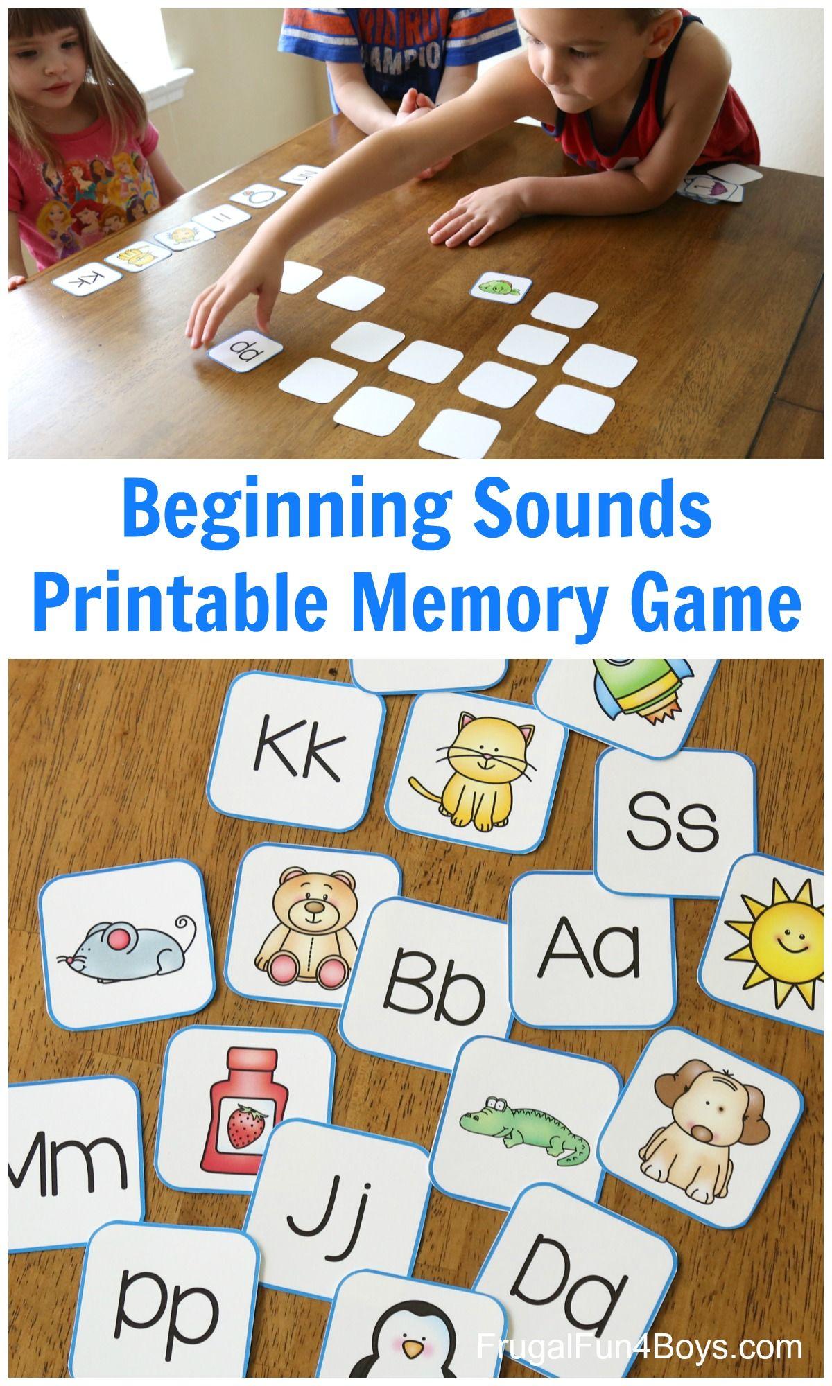 Printable Alphabet Memory Game Cards