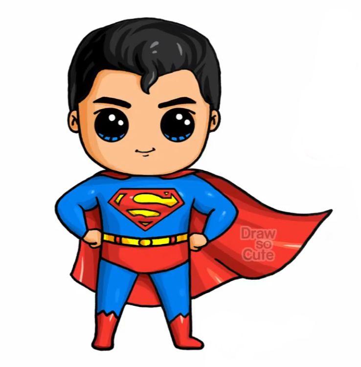 Super Man Cute Kawaii Drawings Cute Drawings Kawaii Disney