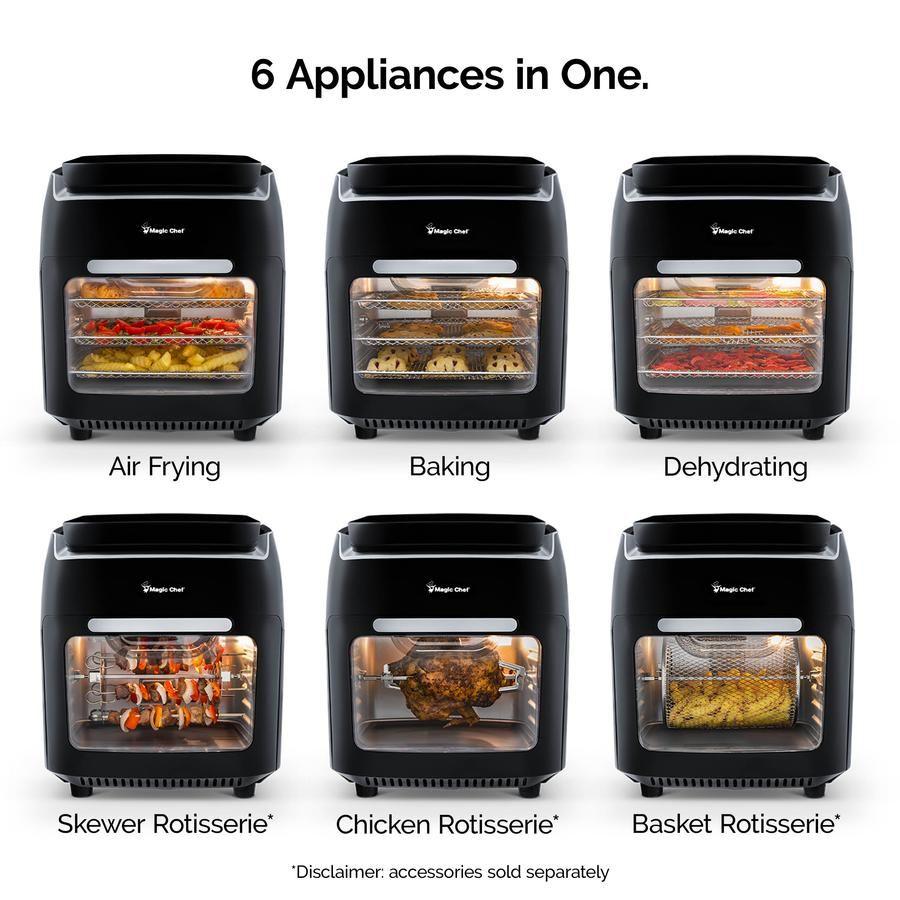 Magic Chef 10 5 Quart Air Fryer Rotisserie Dehydrator And