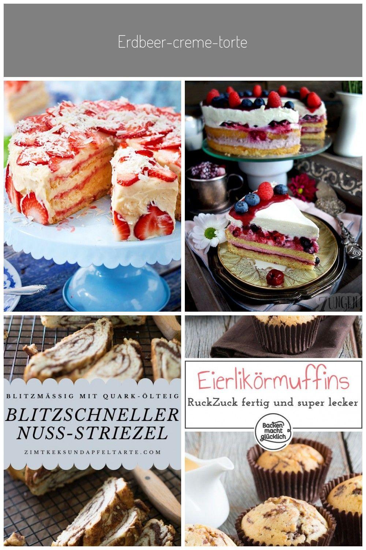Erdbeer Creme Torte In 2020 Mit Bildern Lecker