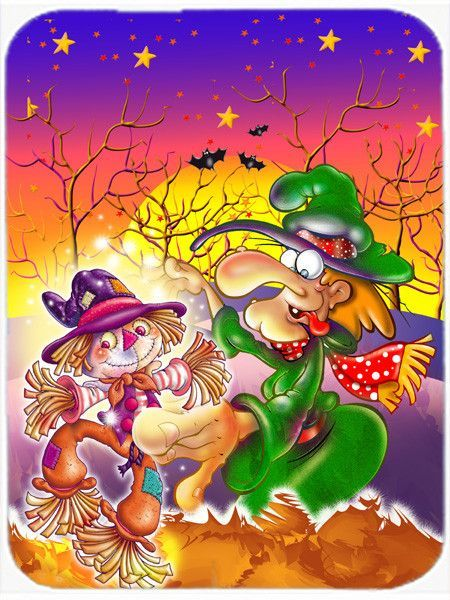 Witch Voodoo Scarecrow Halloween Mouse Pad, Hot Pad or Trivet APH5129MP