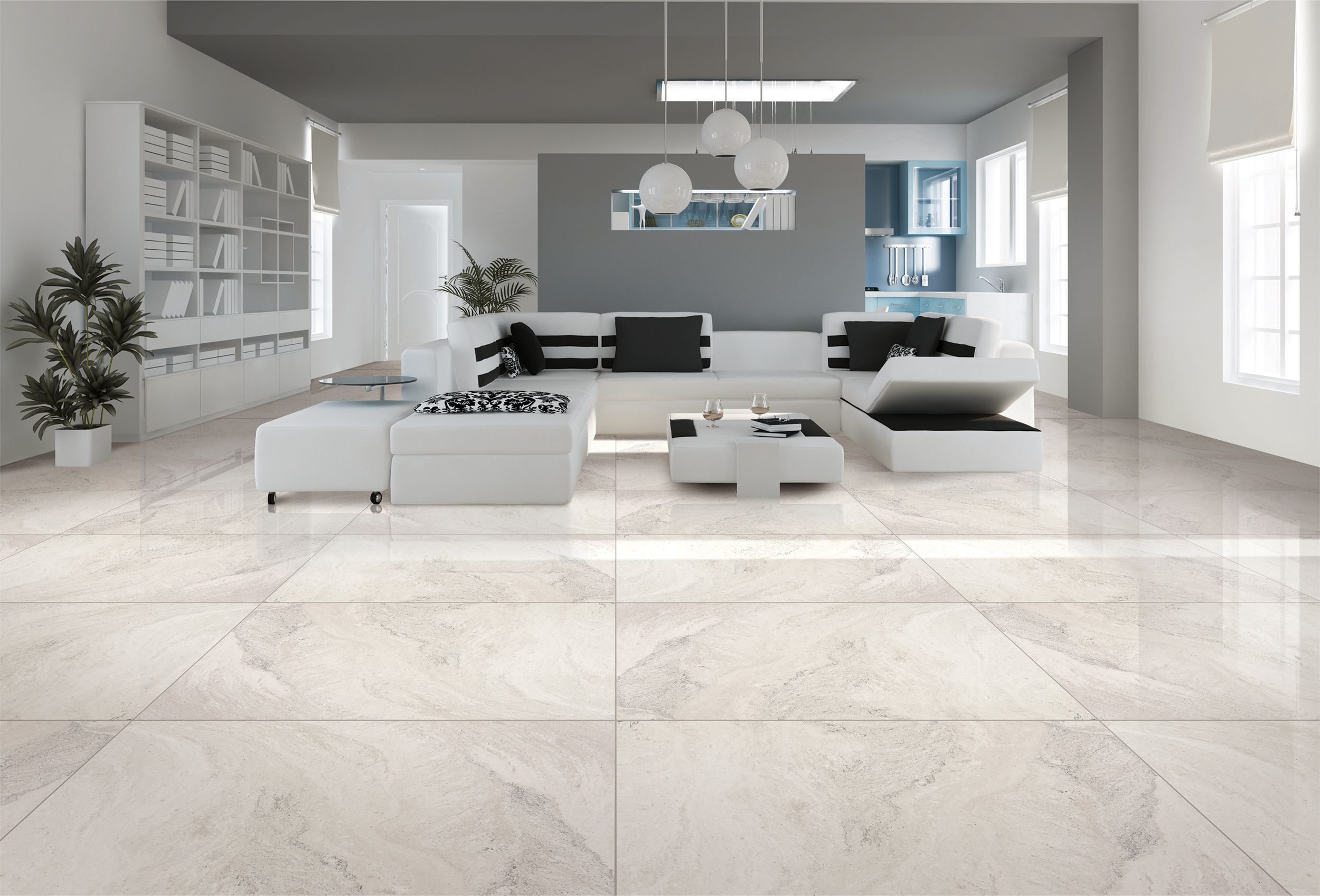 Kajaria Tiles Introduces Its Most Innovative Range Of Large Format Polished Vitrified Tiles The Gra Living Room Tiles Tile Floor Living Room Floor Tile Design