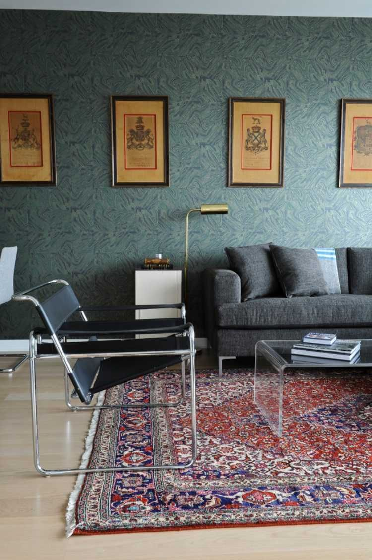 wohnzimmer im retro modern stil wohnen pinterest wohnzimmer teppich wohnzimmer und. Black Bedroom Furniture Sets. Home Design Ideas