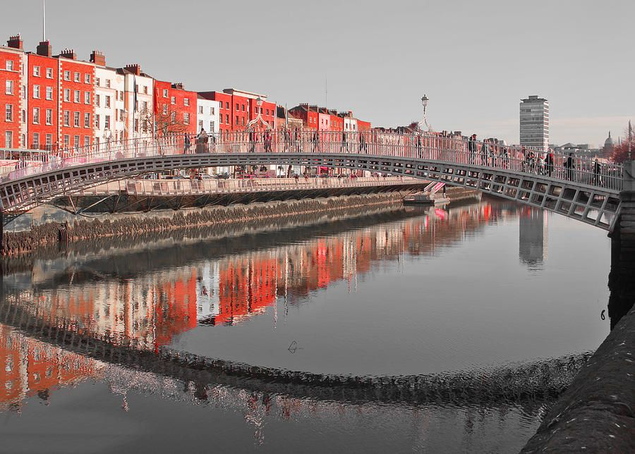 The Hapenny Bridge Reflection Photograph