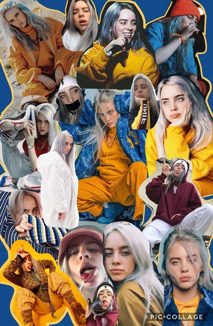 Billie Eilish fondos de pantalla billie fondosdepantalla collage  ferr  Pinterest