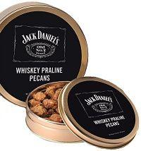12 oz. Jack Daniel's Whiskey Praline Pecan Tin -- Indianola Pecan House Online Store