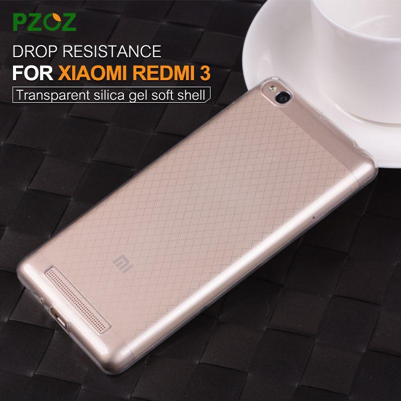 PZOZ Xiaomi RedMi Pro 3 Caso Della Copertura Del Silicone Originale Xiomi RedMi 3 Sottile Trasparente di Protezione Soft Shell Xiaomi Redmi 3 S 5.0