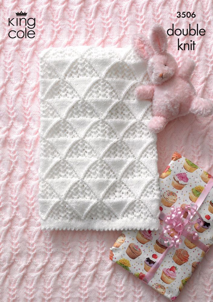 Baby Blankets in King Cole DK - 3506 | Manta, Punto en cruz y Labores