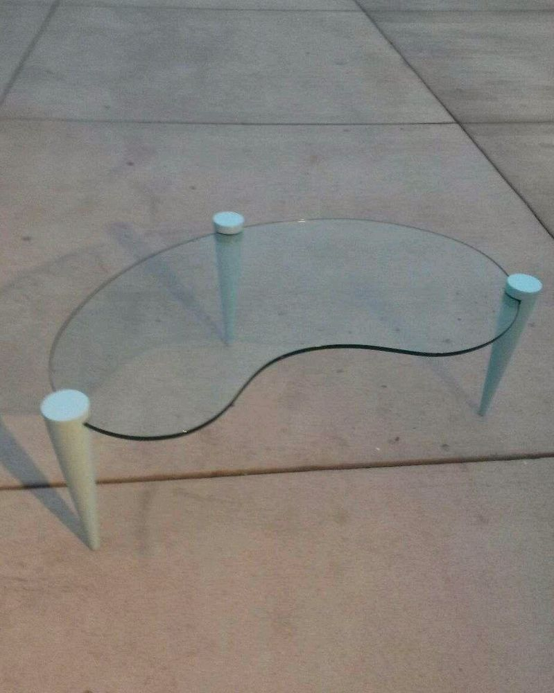 Vintage Oval Glass Coffee Table Contemporary