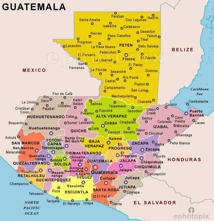 Belize Political Map.Guatemala Detailed Political Map Detailed Political Map Of