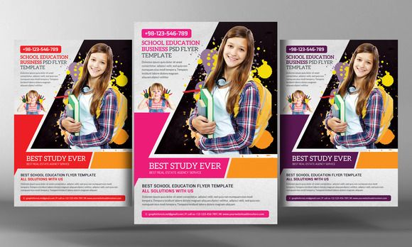 School Education Flyer Template by Business Templates on Creative ...