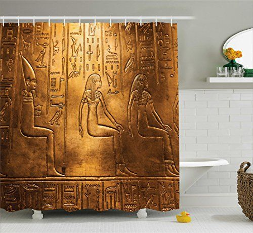 Ambesonne Egyptian Decor Collection Egyptian Hieroglyphics Old