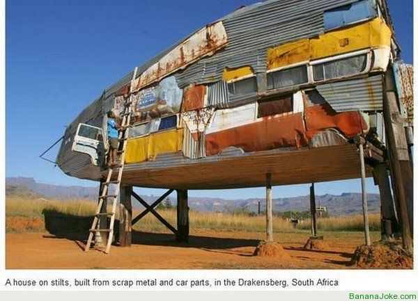 House Of Junk In South Africa Strange Houses Unusual