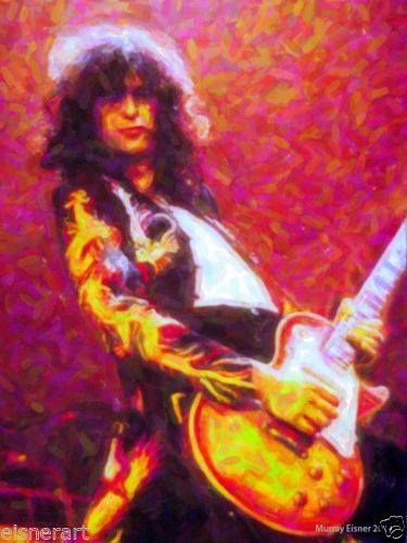 Jimmy Page artwork by Murray Eisner