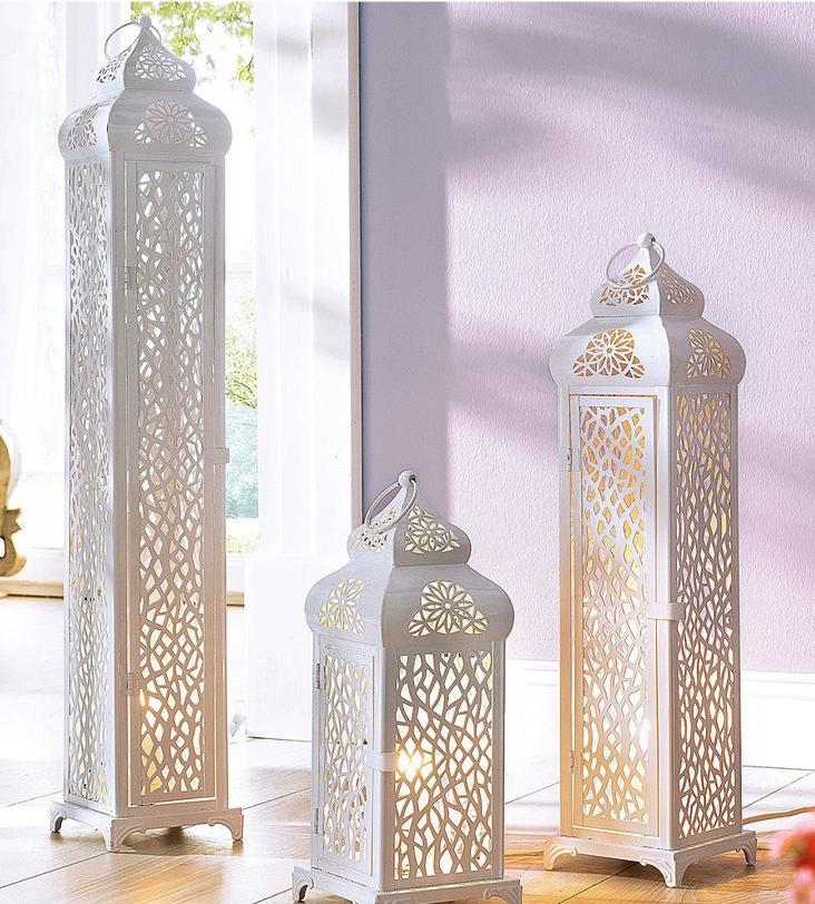 Wundersch ne orientalische leuchte in laternen optik das for Orientalische laterne silber