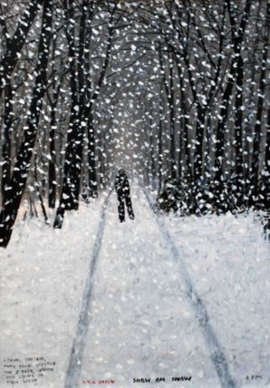 Snow on Snow. Print by Peter Brook.
