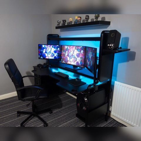 Image result for ikea fredde gaming computers pinterest gaming setup pc and desks - Bureau gamer ikea ...