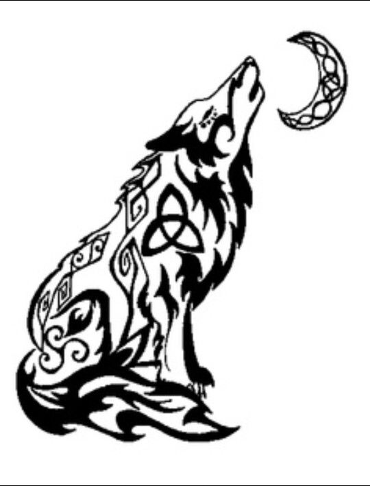 Tribal Wolf Tattoo Design Celtic Wolf Tattoo Howling Wolf Tattoo
