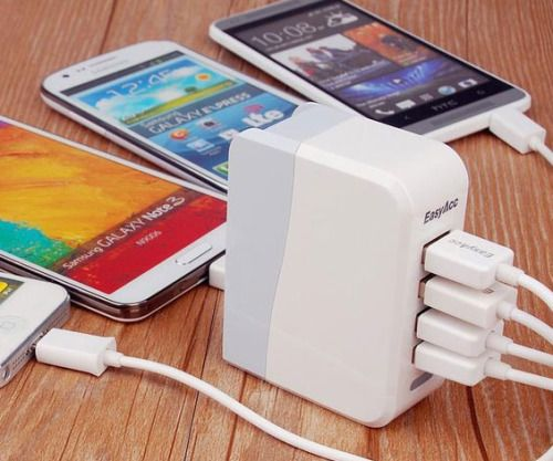Four Port USB Wall Charger  Solve the problem of overcrowded wall plugs once and for all with the four port USB wall charger. This compact device maximizes your wall outlets to the fullest by providing you with up to four USB ports so you can charge all your electronic devices at once!  $19.99  Check It Out  Awesome Sht You Can Buy